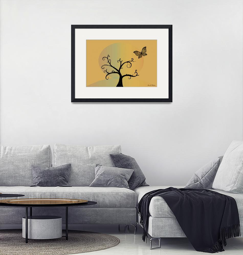 """""""Last Tree Standing - Yellow""""  (2008) by ProvencalDesigns"""