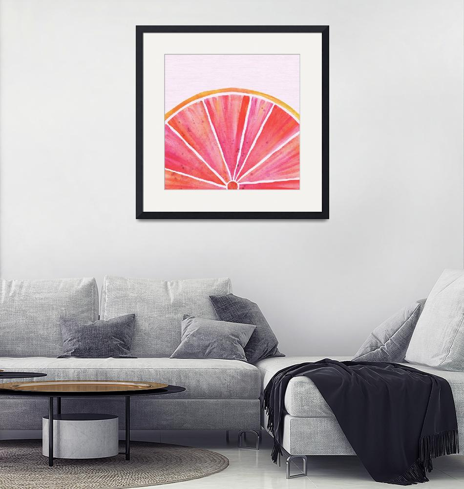 """""""Pink Grapefruit""""  (2018) by moderntropical"""