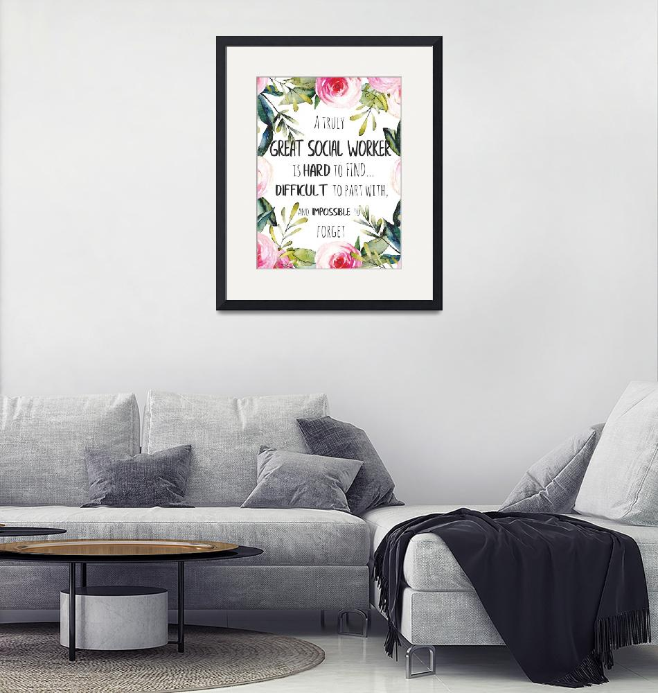 """""""Great social worker Gift Thank you note"""" (2019) by Maggy"""