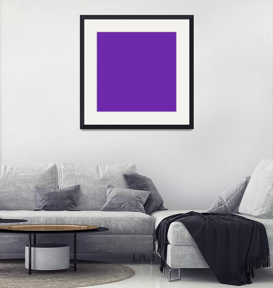 """Square PMS-266 HEX-6D28AA Blue Purple Violet""  (2010) by Ricardos"