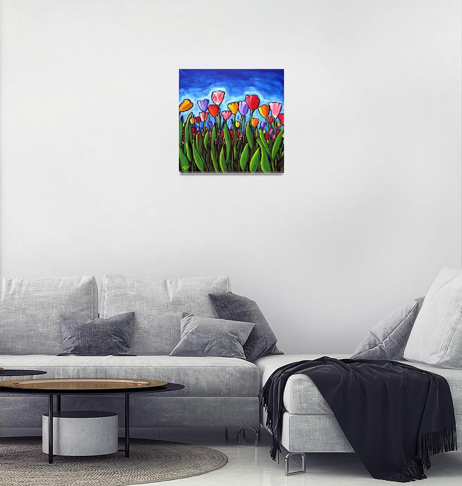 """""""Tulips""""  (2010) by reniebritenbucher"""