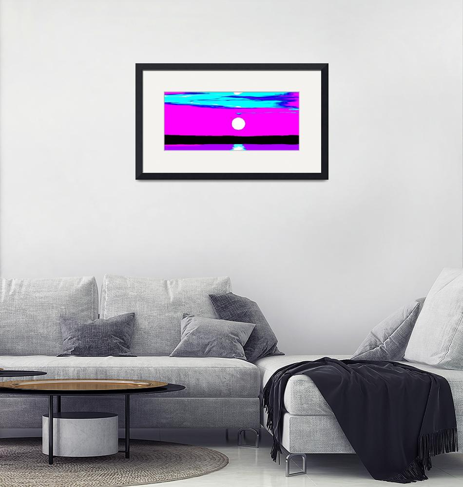 """Oceanside Blue Magenta Passions Panorama""  (2011) by TheNorthernTerritory"