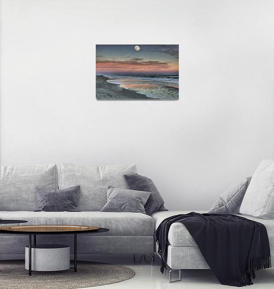 """November Moon at Dusk Hilton Head Island""  by jimcrotty"