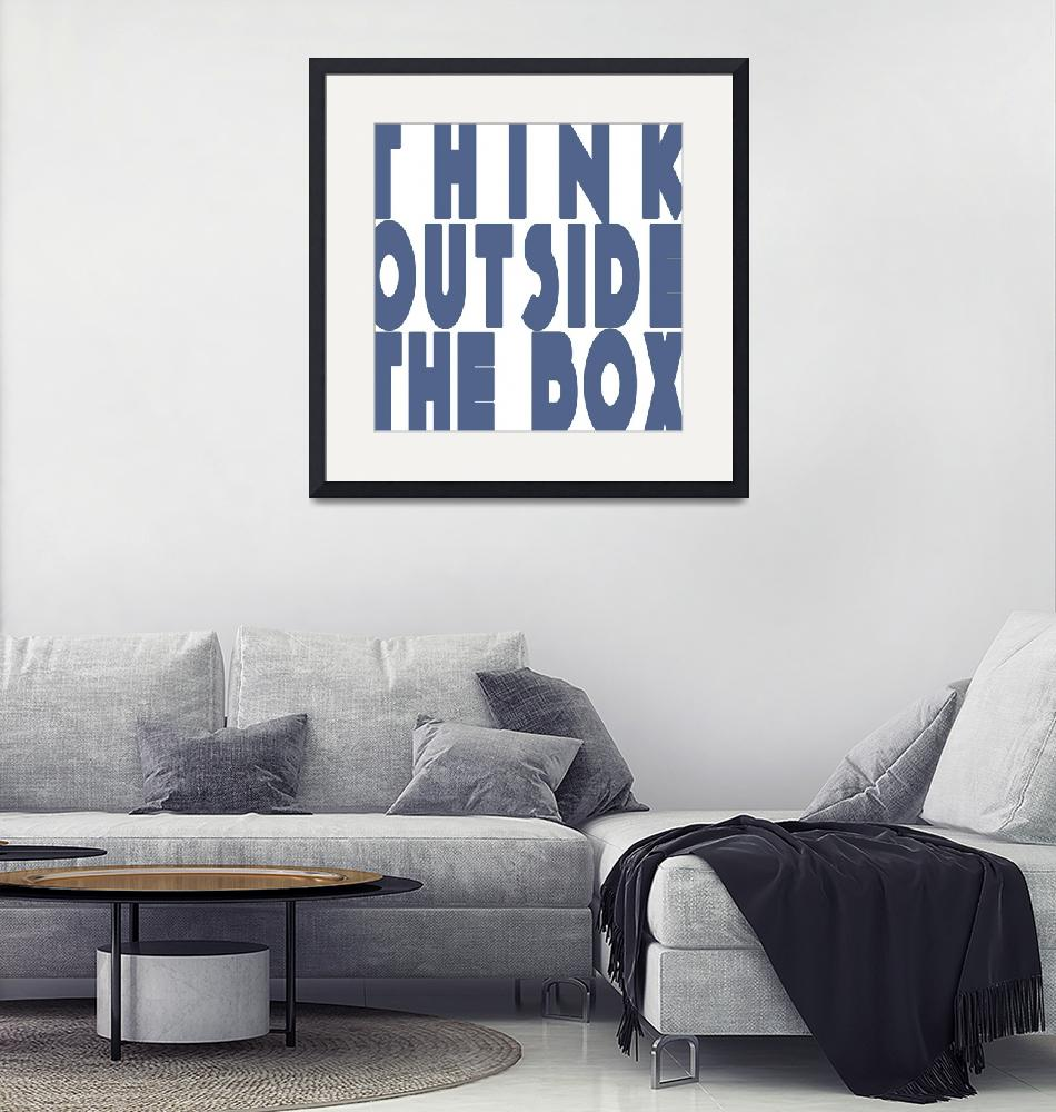 """""""think outside the box""""  (2015) by perovict"""