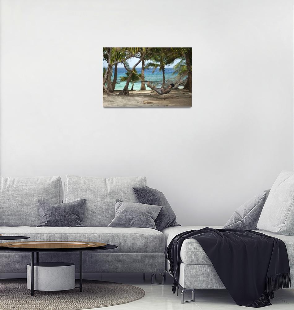 """Man enjoying a tropical siesta""  (2013) by photoeverywhere"