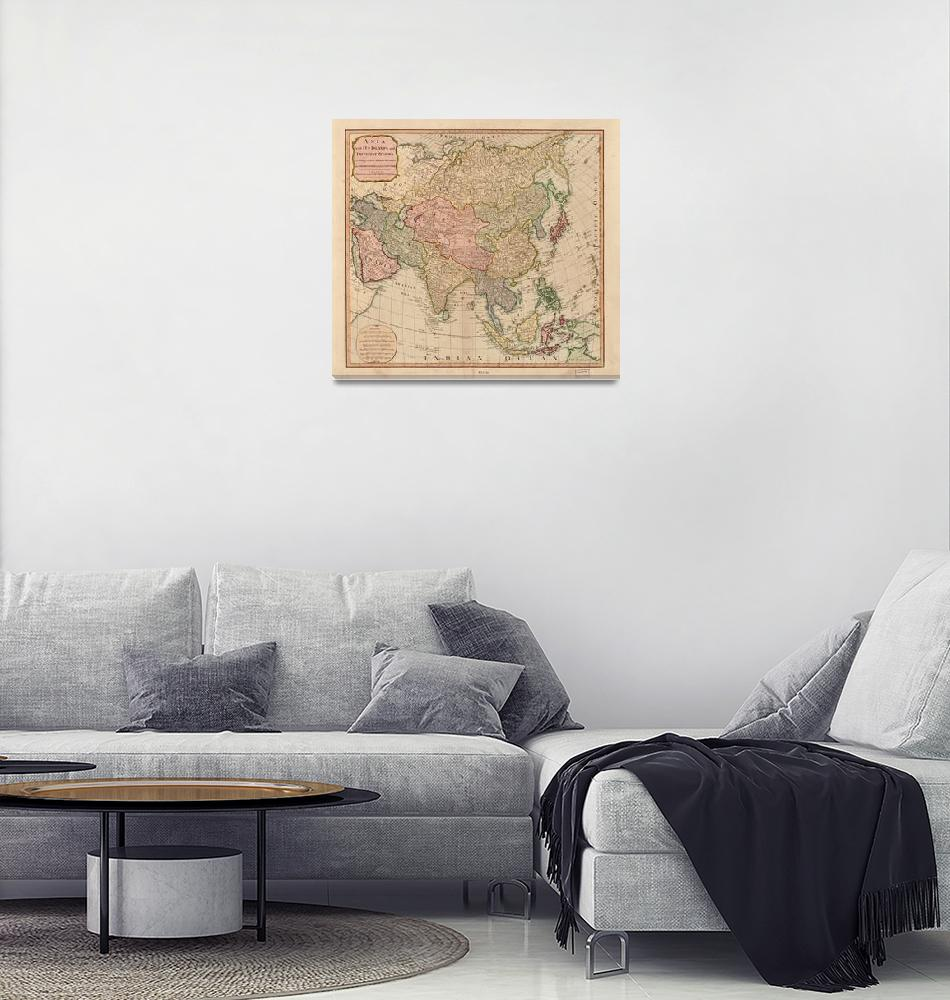 """""""Vintage Map of Asia (1799)""""  by Alleycatshirts"""