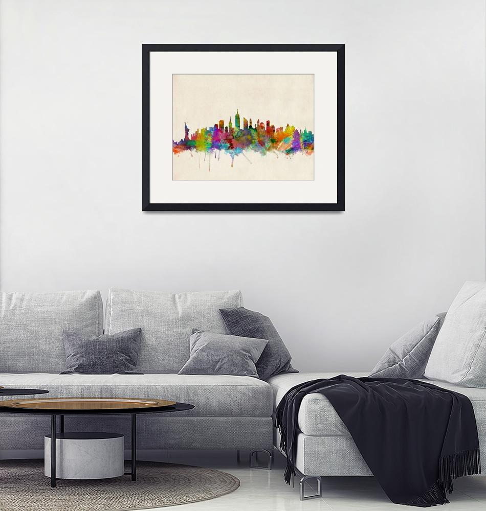 """New York City Skyline""  (2013) by ModernArtPrints"