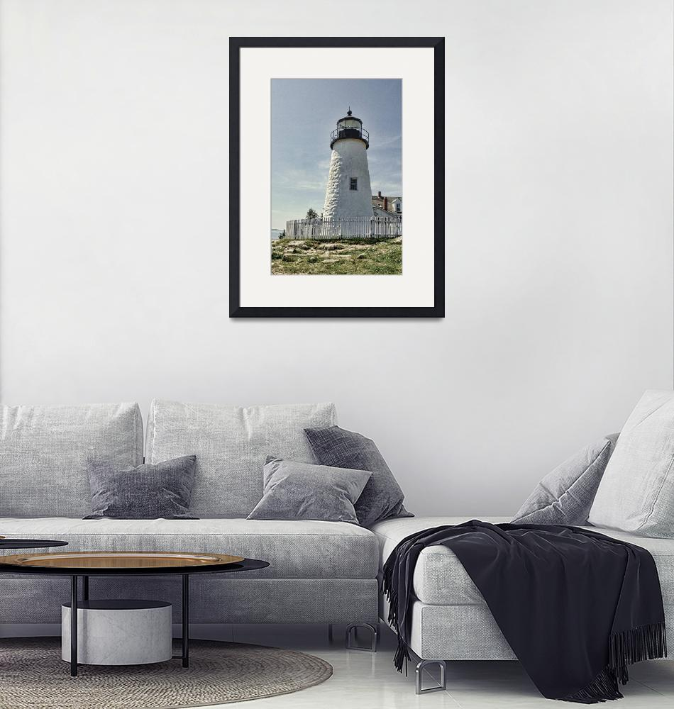 """Pemaquid Point Lighthouse""  (2009) by MikeDimages"