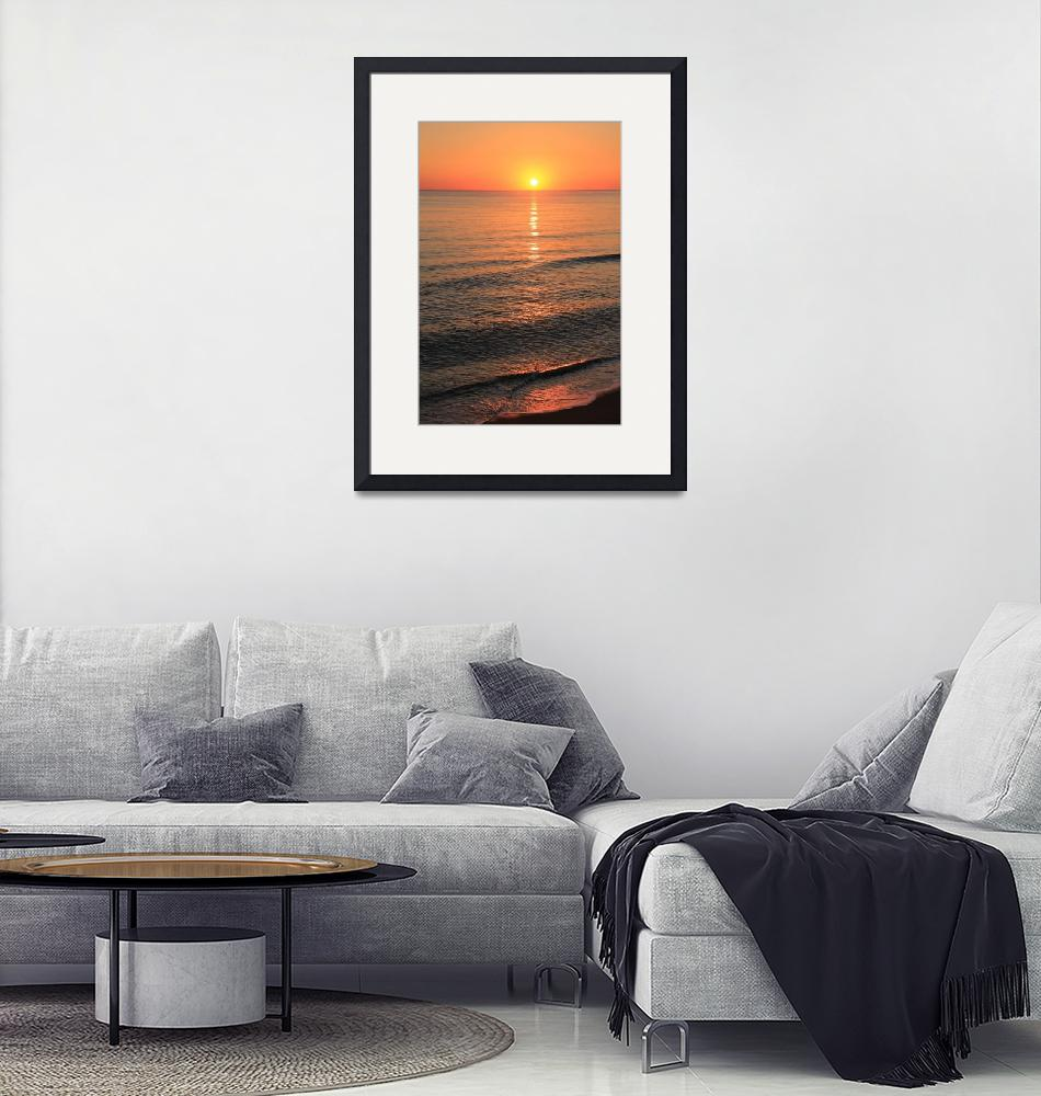"""""""Sunrise on Smooth Ocean  IMG_2621""""  (2014) by rayjacque"""