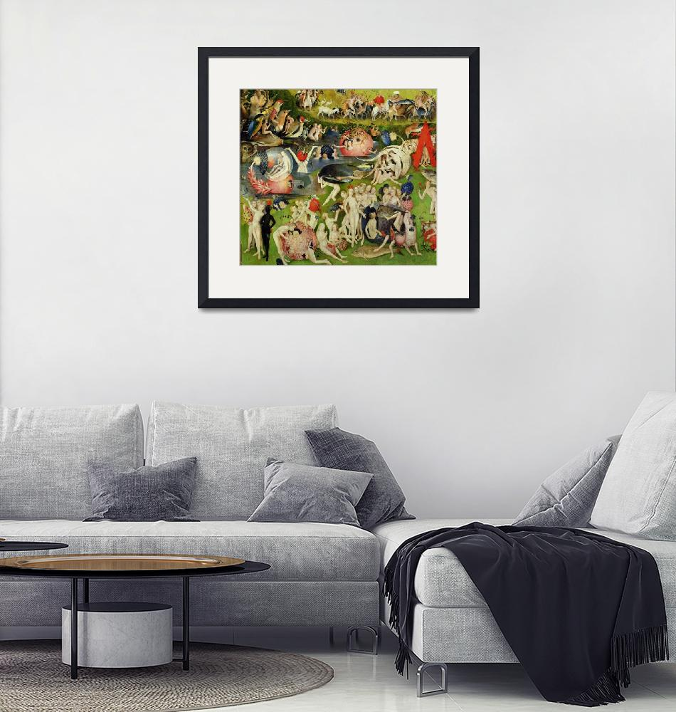 """""""The Garden of Earthly Delights: Allegory of Luxury""""  by fineartmasters"""