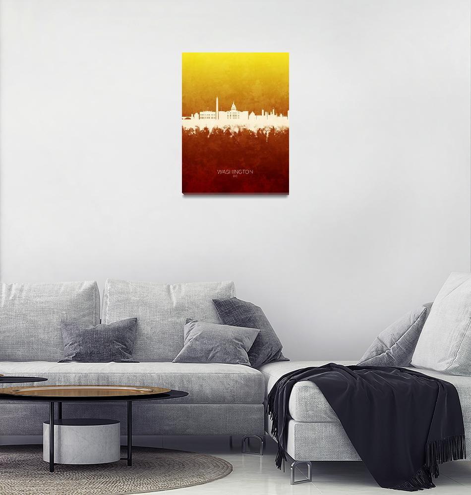 """Washington DC Skyline""  (2019) by ModernArtPrints"
