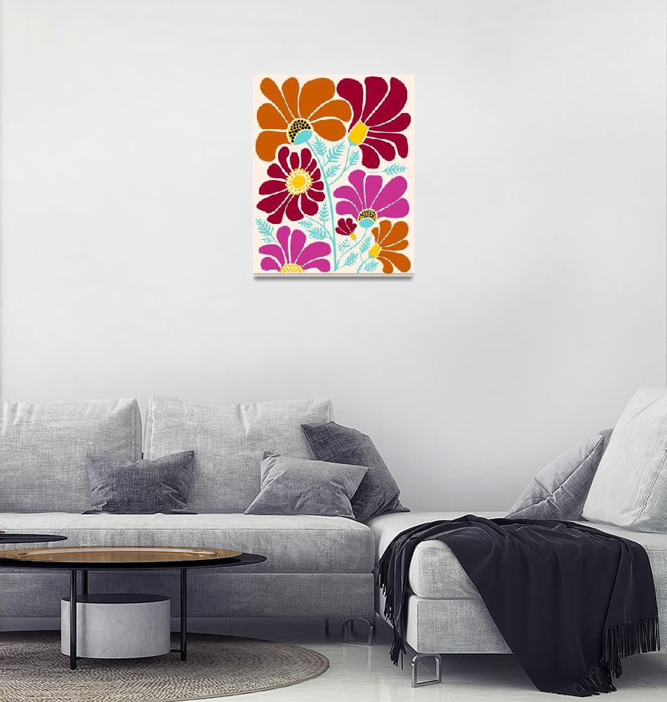 """""""Autumn Floral""""  (2018) by moderntropical"""