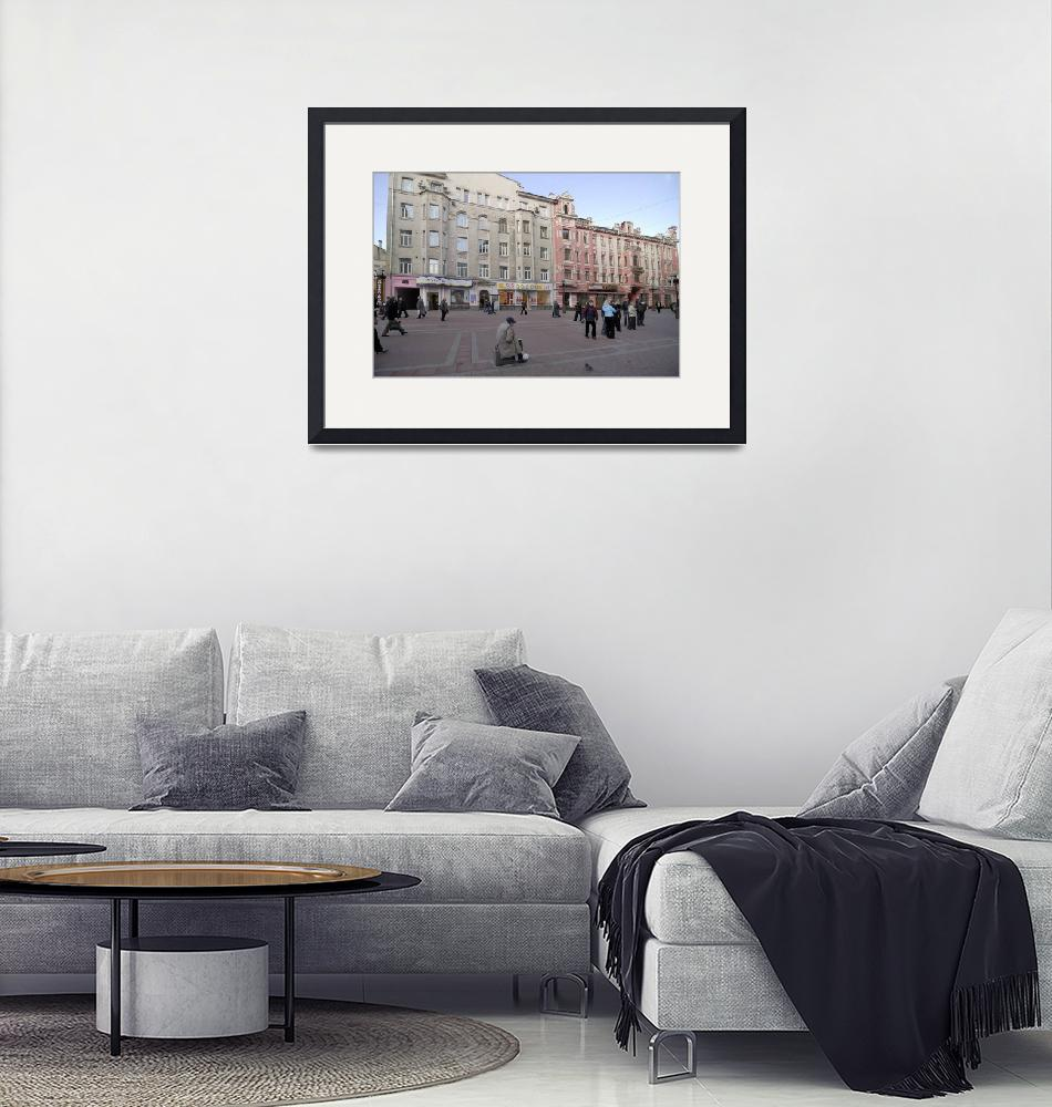 """""""Moscow street Arbat. Moscow, Russia""""  (2008) by igorsin"""
