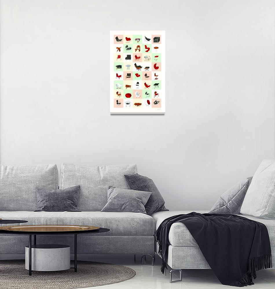 """""""Mid-Century Modern Furniture (Warm)"""" (2009) by jamesprovost"""