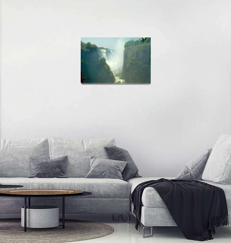 """Victoria Falls Zambezi River in Zimbabwe Africa""  by ArtLoversOnline"