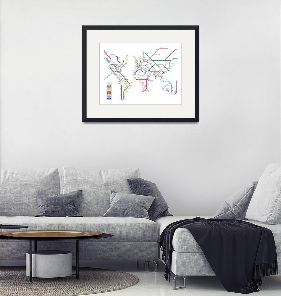 """World Tube Metro Map""  (2010) by ModernArtPrints"