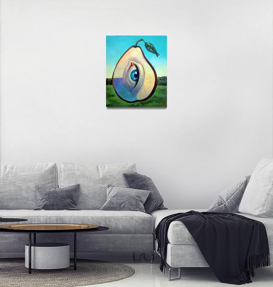 """""""Pear""""  (2010) by painterflipper"""
