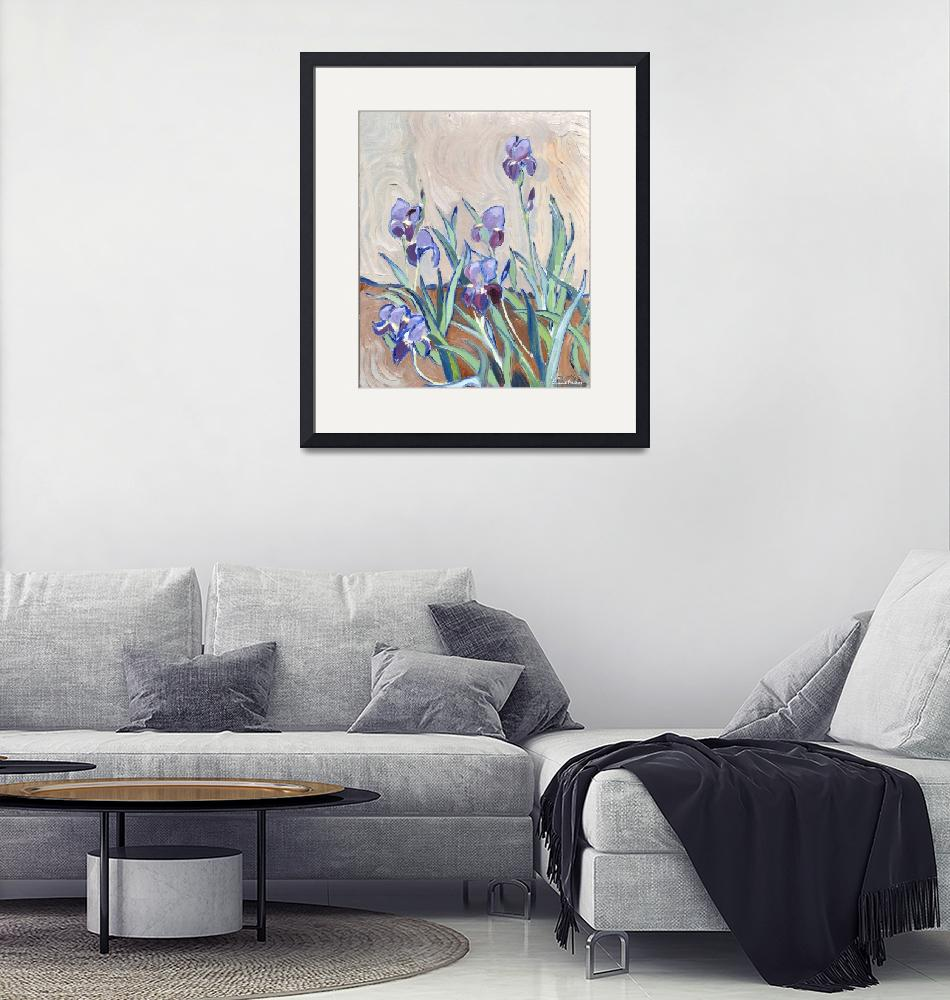"""""""Lilies""""  (1987) by claudebuckleyfineart"""