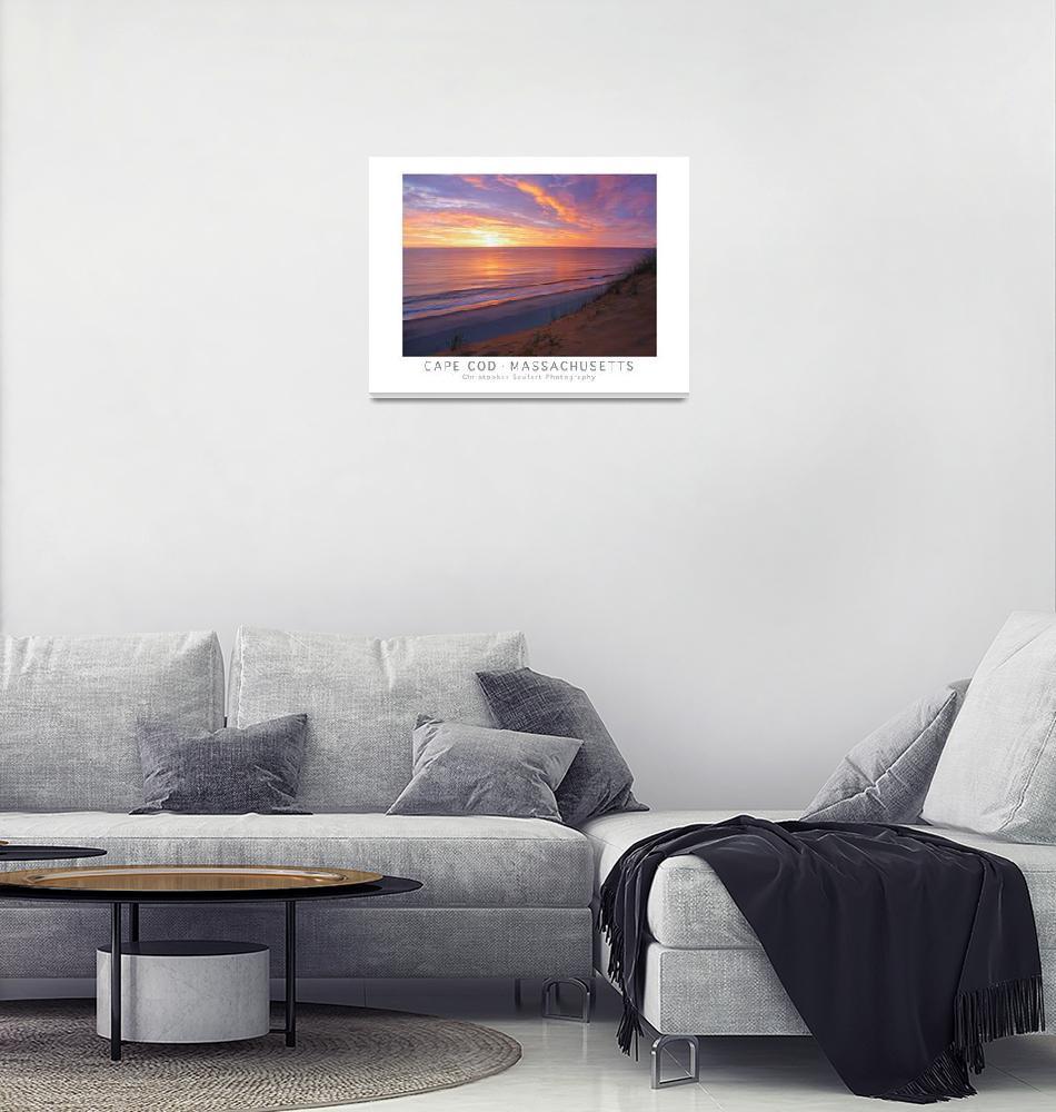 """""""Cape Cod Sunrise Poster Print (Wellfleet)""""  (2014) by ChrisSeufert"""