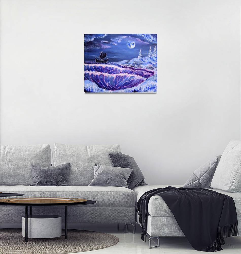 """""""Mystic moon landscape""""  (2013) by Konovalenko"""