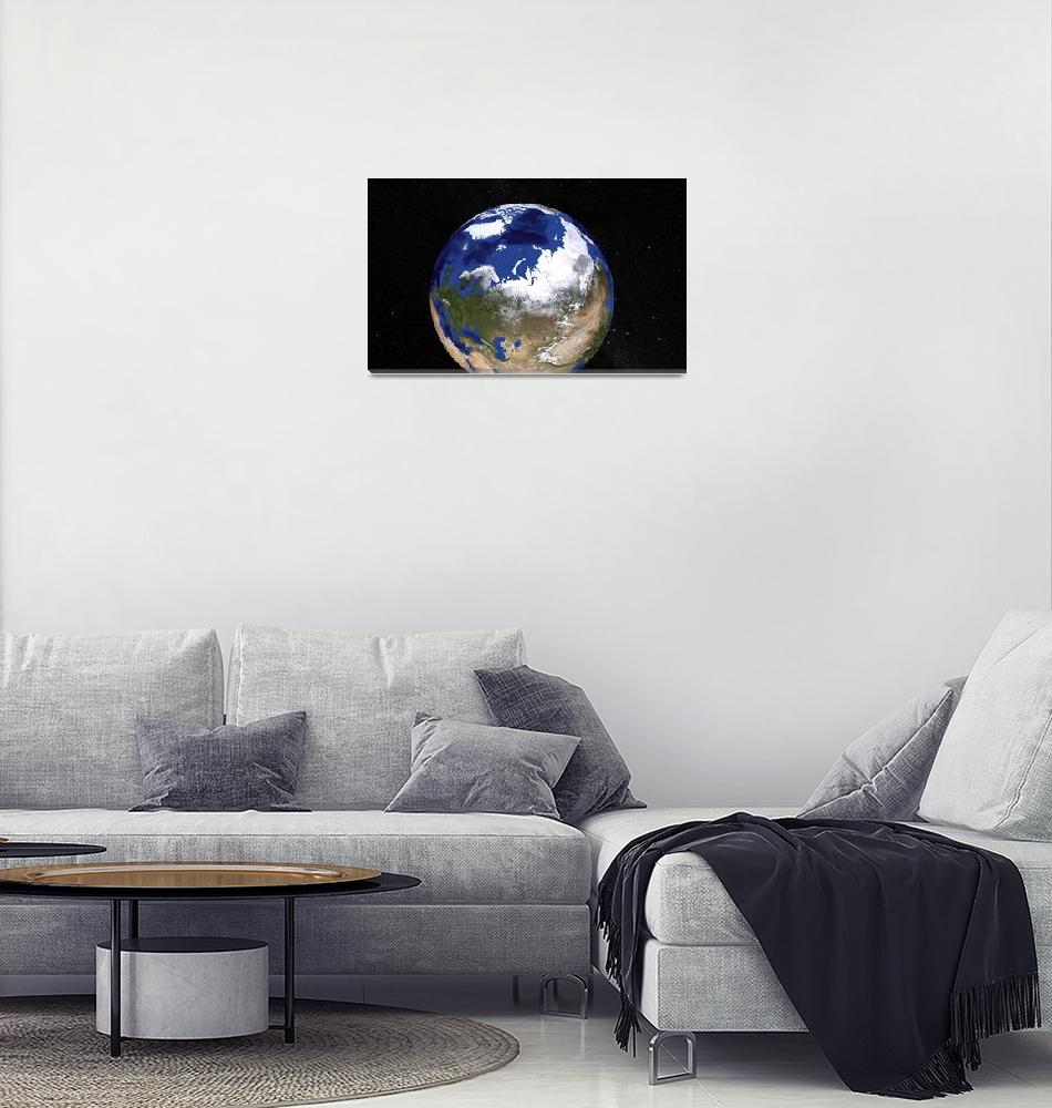 """""""Blue Marble Earth showing the Arctic.""""  by stocktrekimages"""