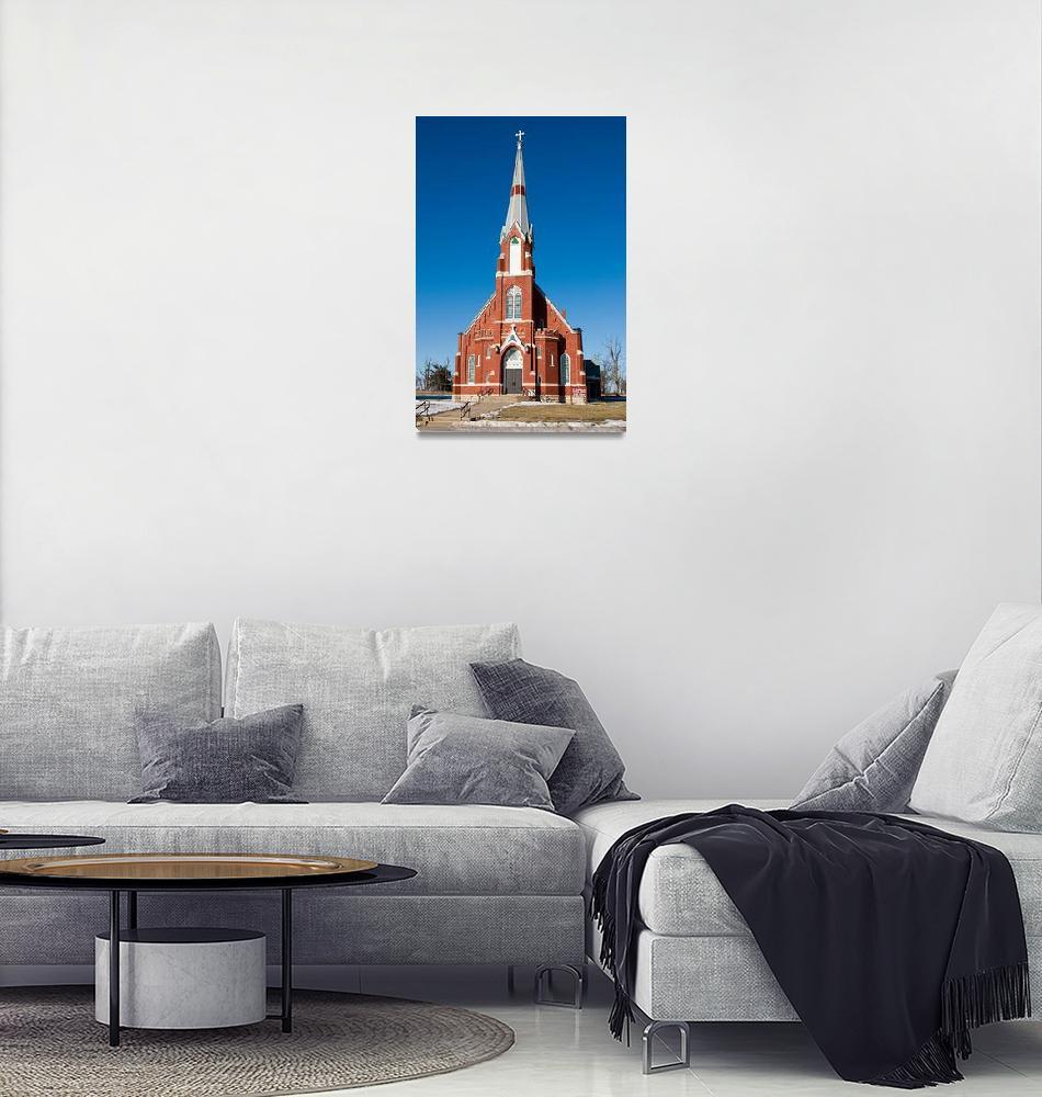 """""""St Columbkilles Catholic Church Blaine Ks""""  (2007) by jim031956"""