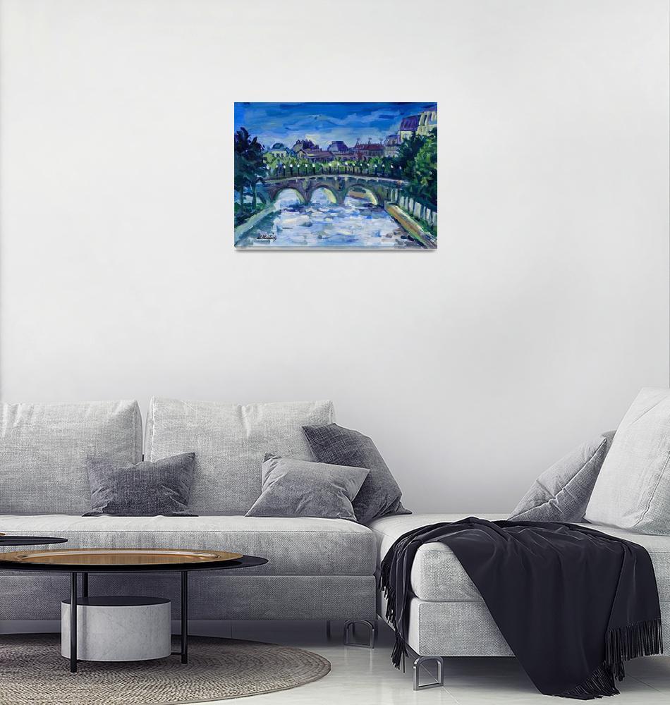 """Keating PARIS FRANCE LANDSCAPE Fine Art Print""  (2002) by KeatingArt"