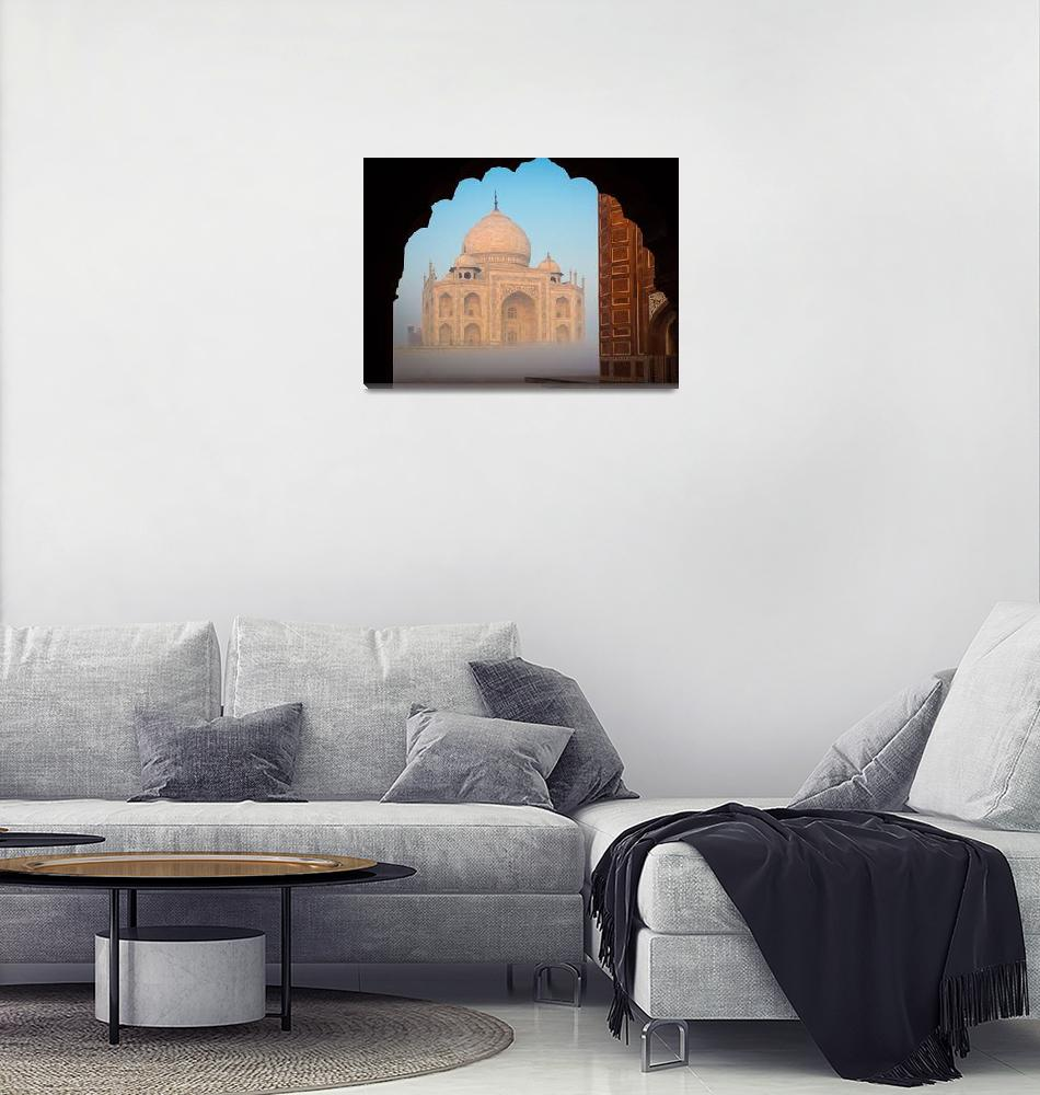 """Taj Mahal Dawn""  (2013) by Inge-Johnsson"