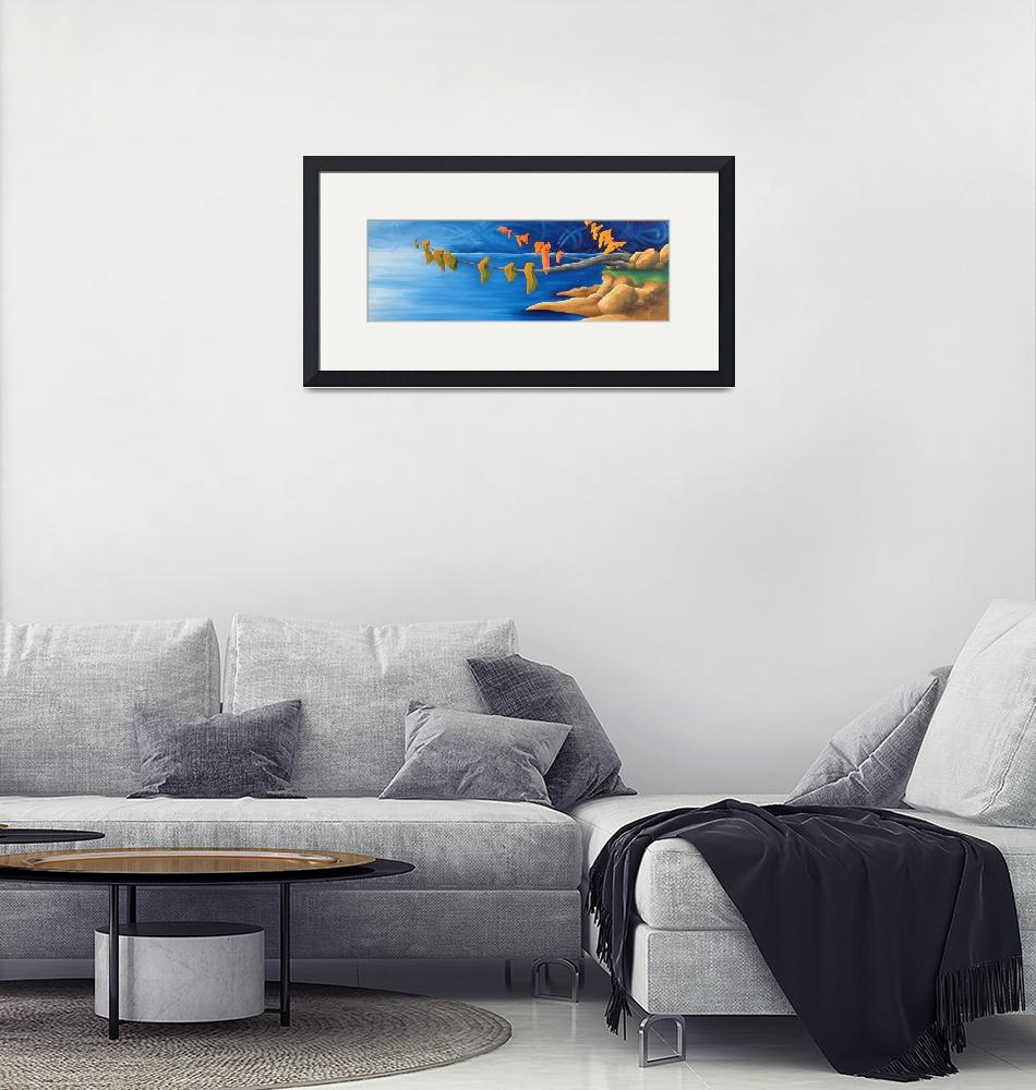 """Drawn To The Sea""  by HoedlGicleeFineArtPrints"
