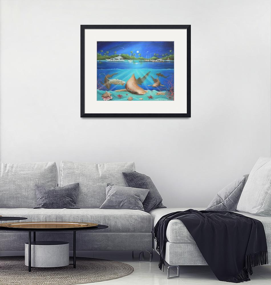 """""""Fishing in the Bahamas"""" (2006) by sgnarts"""