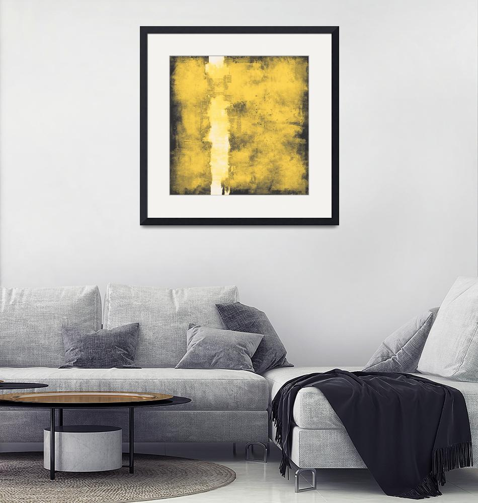 """Yellow gray shabby wall #77""  by EmericoStyle"