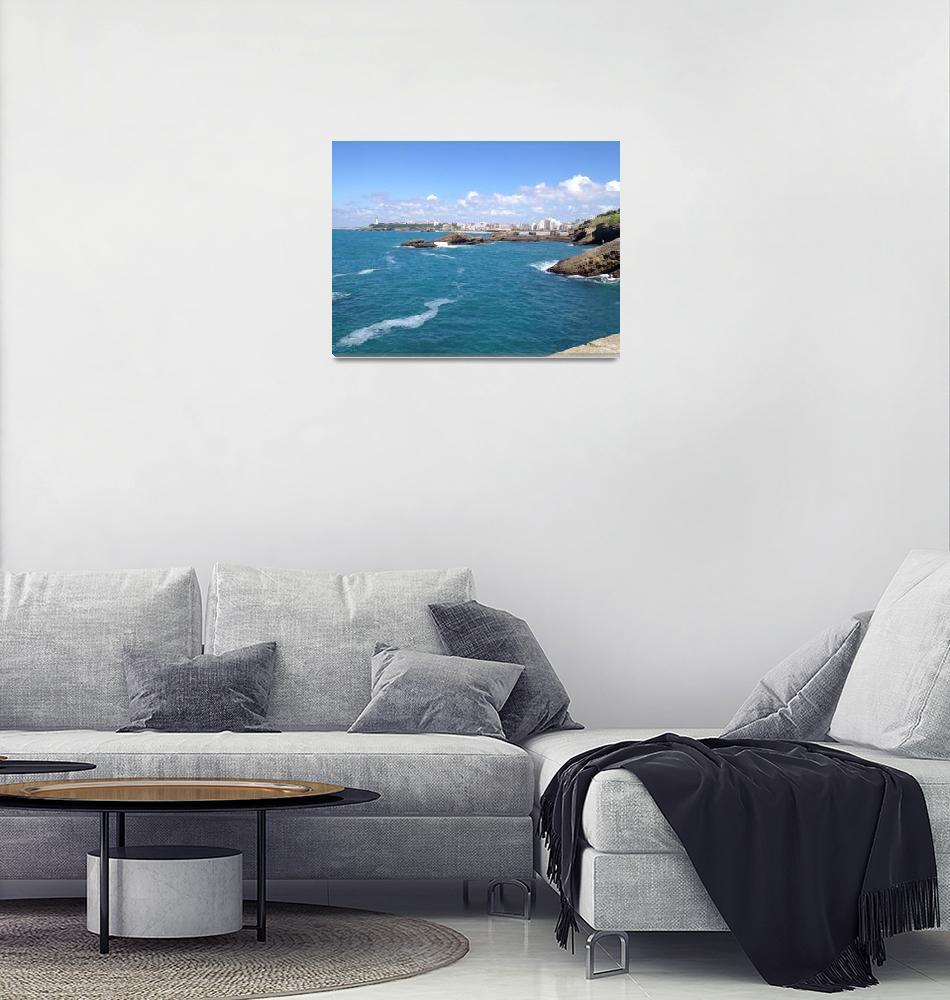 """Biarritz, France Ocean11""  (2012) by argaito"