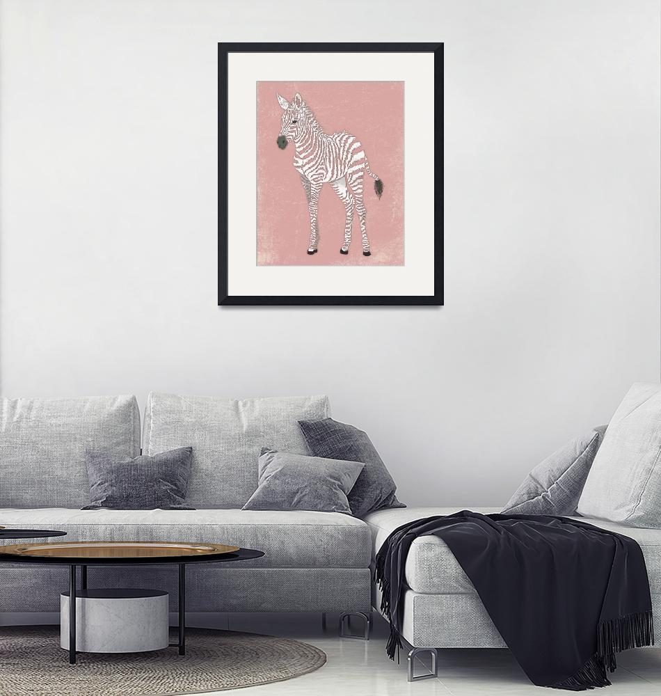 """""""Baby Zebra in Pink""""  (2014) by Littlepig"""