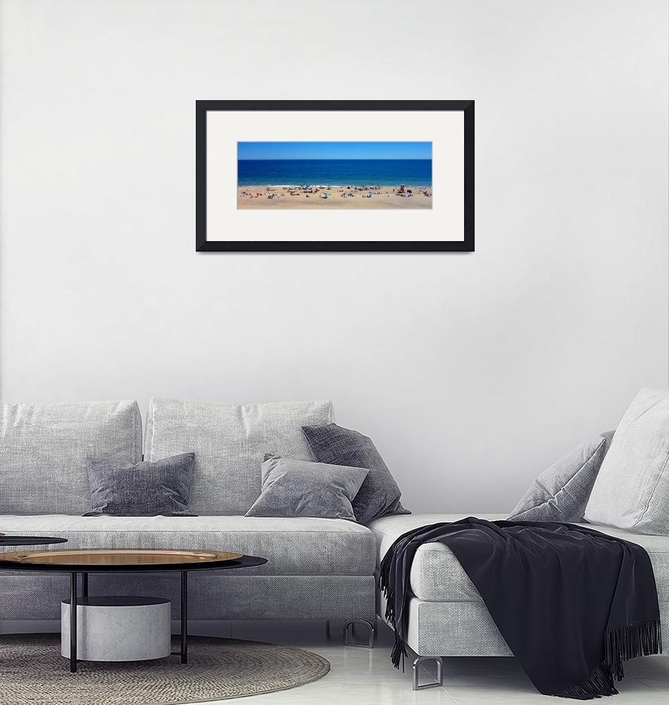 """Cape Cod : Cahoon Hollow Panorama""  (2018) by ChrisSeufert"