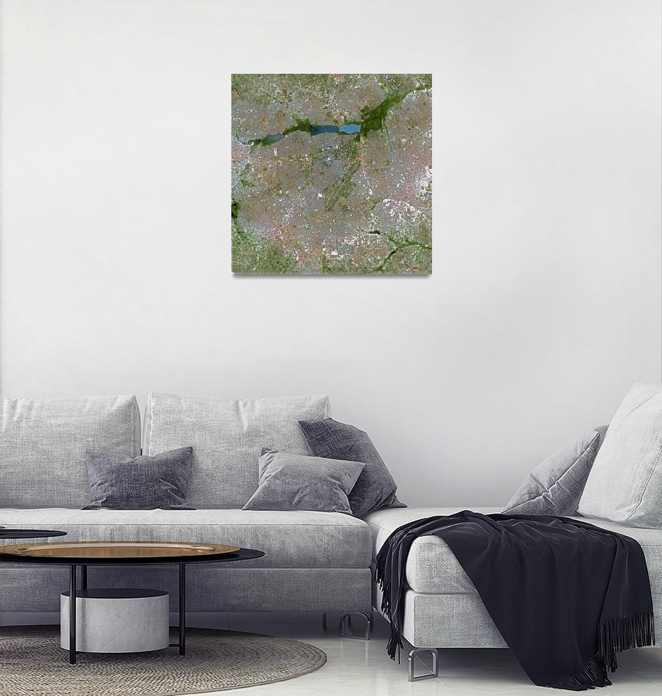"""""""Ouagadougou (Burkina Faso) : Satellite Image""""  (2002) by astriumgeo"""