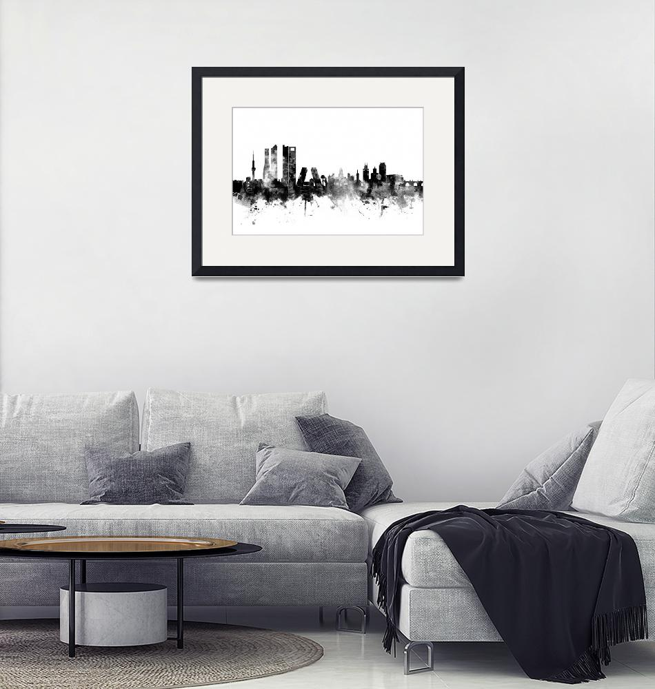 """Madrid Spain Skyline""  (2016) by ModernArtPrints"