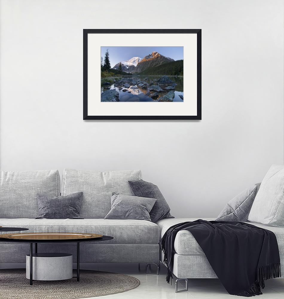 """Mount Edith Cavell, Cavell Lake, Jasper National P""  by DesignPics"