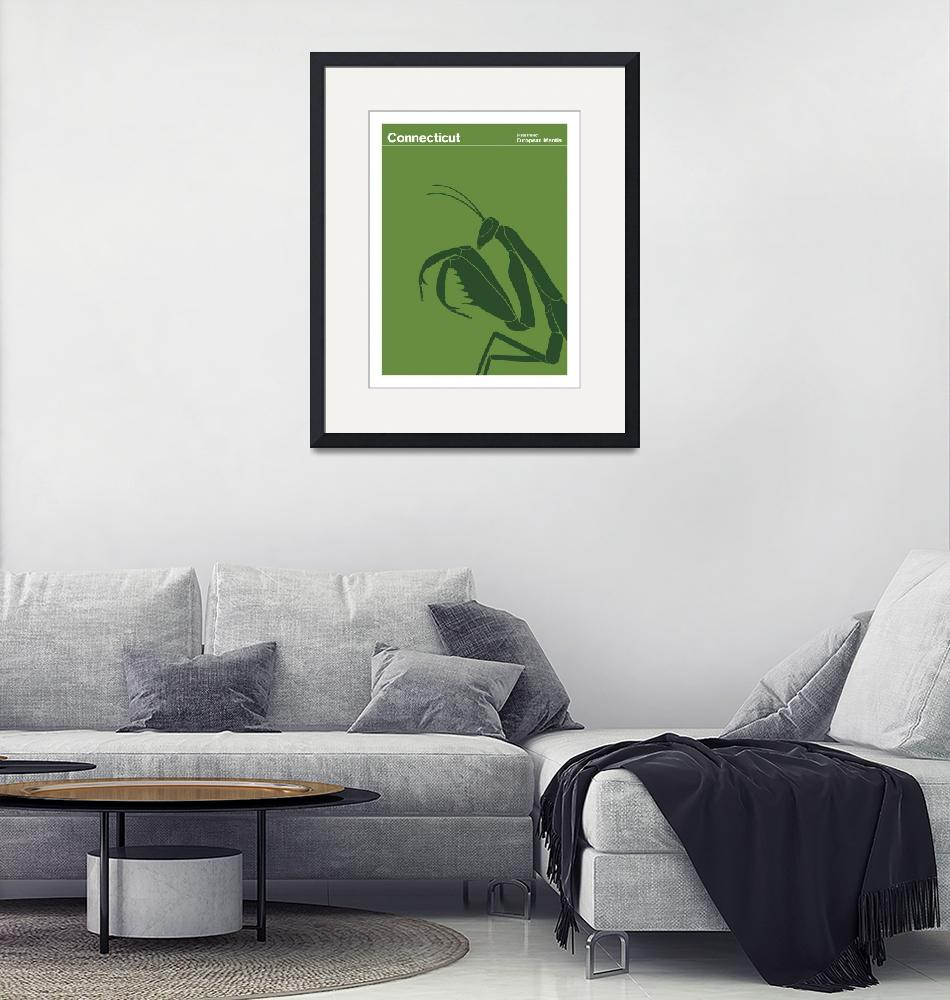 """""""Connecticut State Insect: European Mantis""""  by artlicensing"""