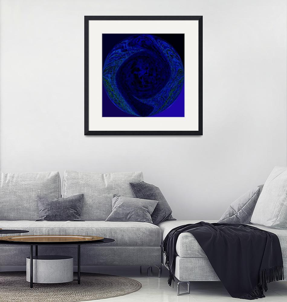 """Circle of Blues""  (2009) by abstractsbyalli"