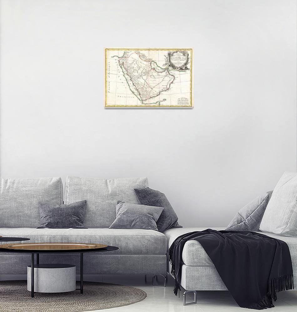 """Vintage Map of Saudi Arabia (1771)""  by Alleycatshirts"