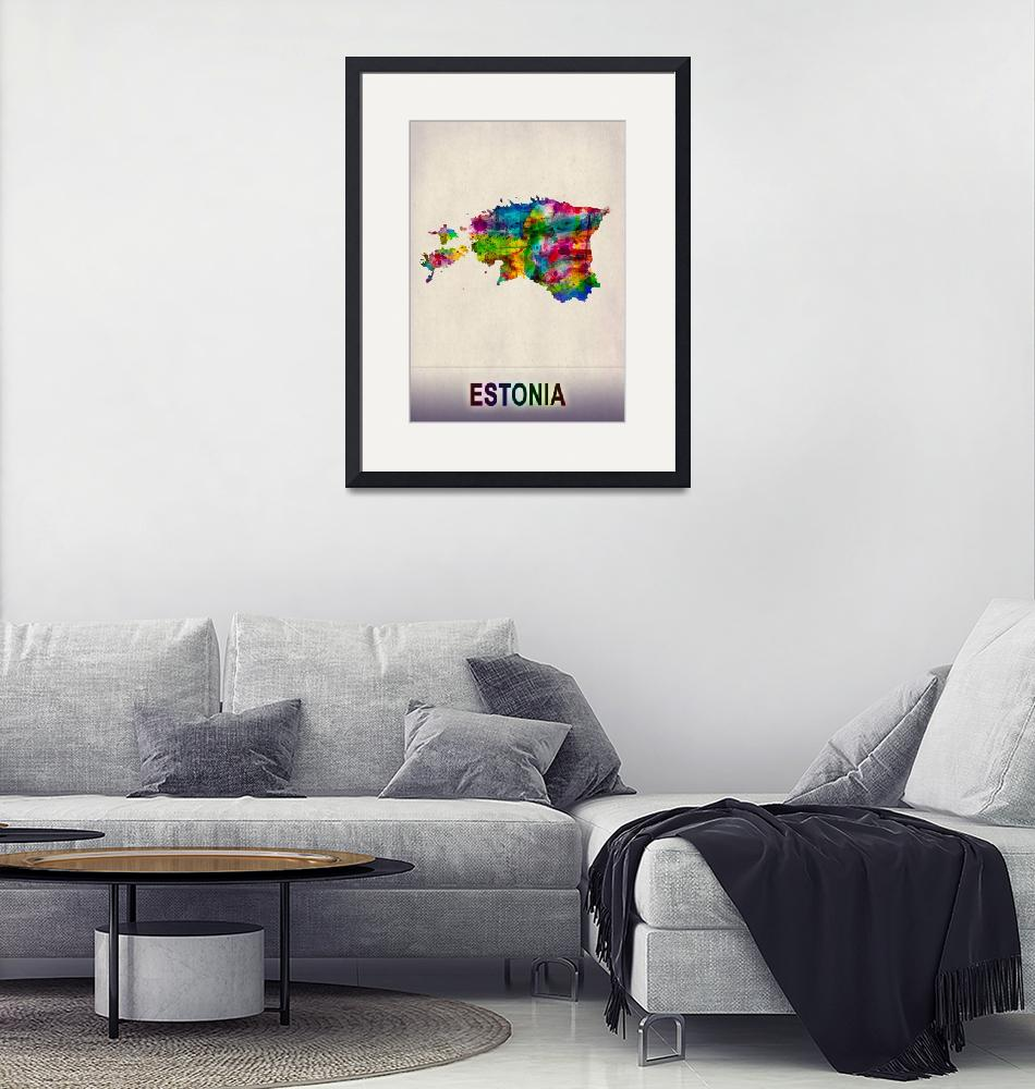 """""""Estonia Map""""  by Towseef"""