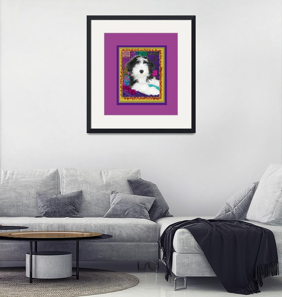 """""""Bearded Collie with stature""""  (2009) by kring"""