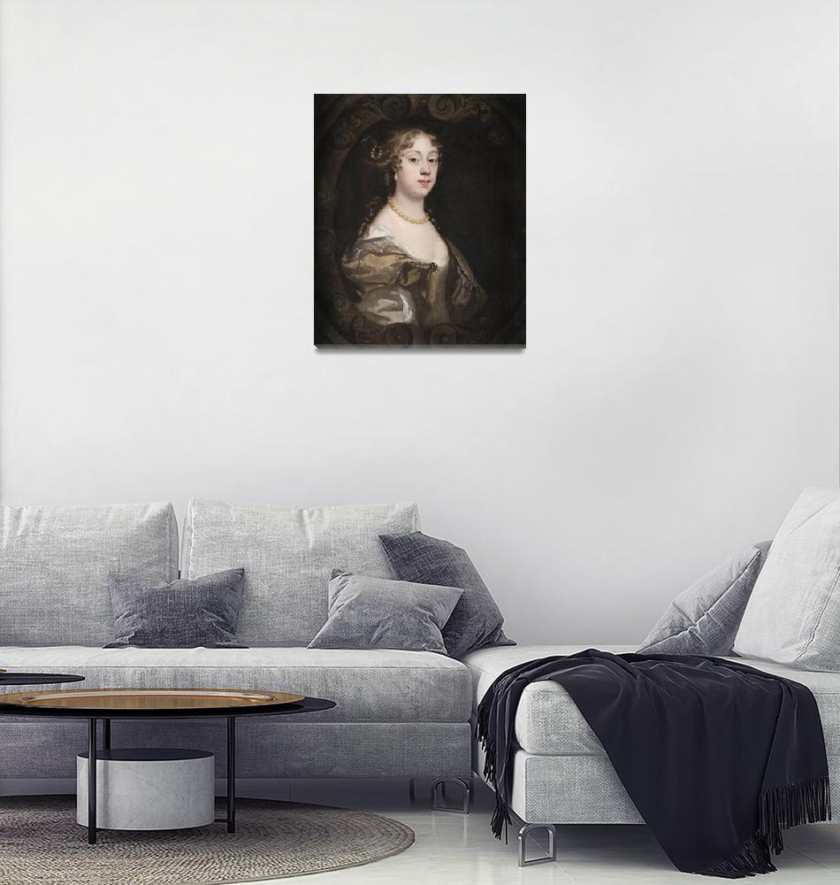 """""""Mary Beale, Peter Lely~Lady Abigail Webster, nee J""""  by Old_master"""