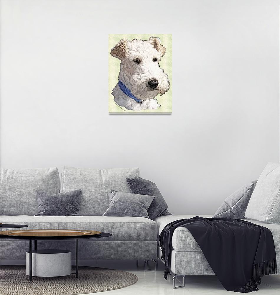 """Wire Fox Terrier""  (2008) by diane"