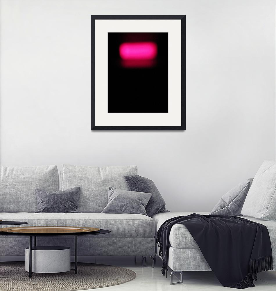 """""""Pink on Black Abstract""""  (2012) by larryallenwhite"""