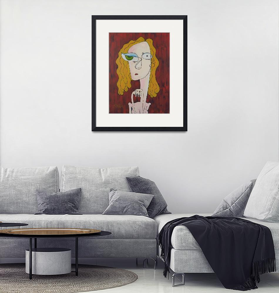 """""""Nude in a Red Room"""" by Savageart"""