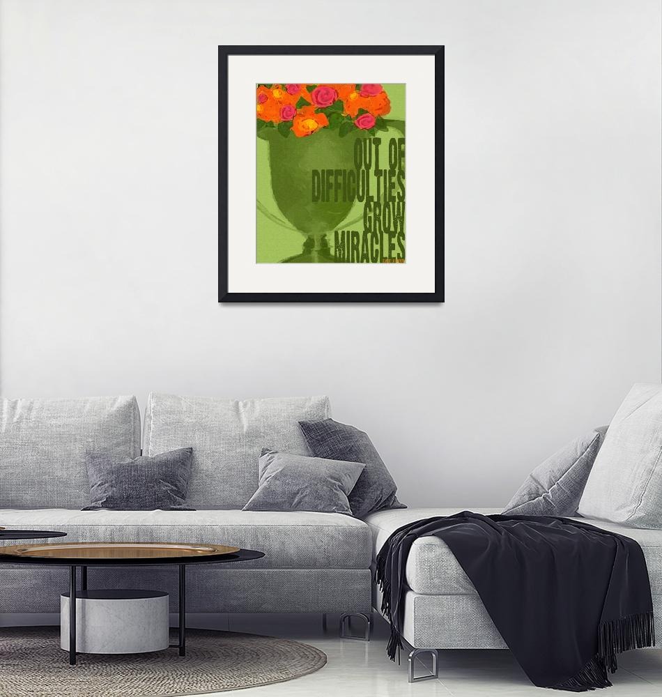 """""""ROSES IN GREEN TROPHY - OUT OF DIFFICULTIES GROW M""""  (2009) by lisaweedn"""