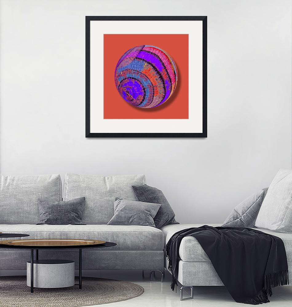 """""""Tree Ring Abstract Orb""""  (2018) by RubinoFineArt"""