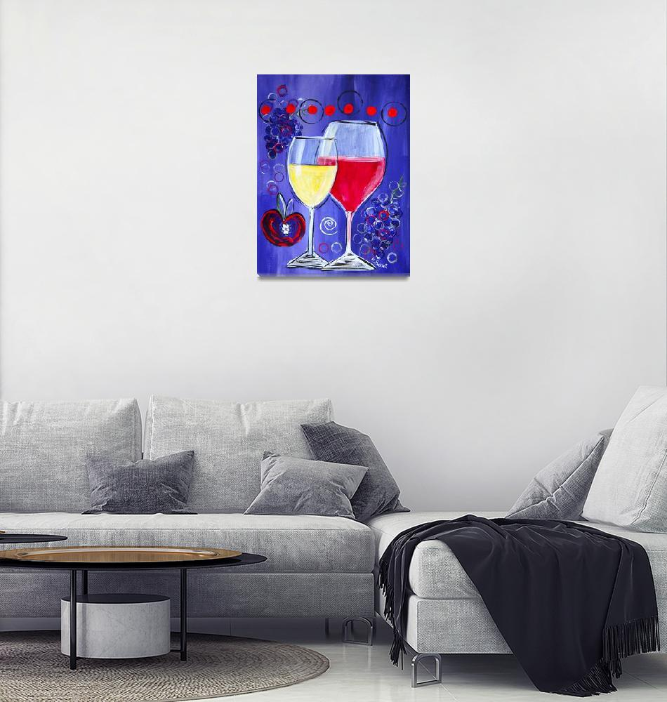 """Wine Time""  (2016) by MaggieBernet"