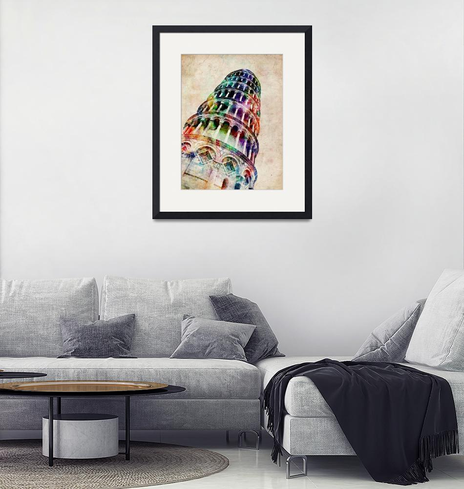 """""""Leaning Tower of Pisa""""  (2012) by ModernArtPrints"""